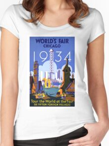 Vintage poster - Chicago Women's Fitted Scoop T-Shirt