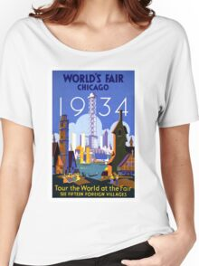 Vintage poster - Chicago Women's Relaxed Fit T-Shirt