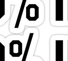 50% IDK / 50% IDC Trendy/Tumblr/Hipster Meme Sticker