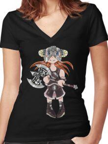 Dovahkiin(Girl) Women's Fitted V-Neck T-Shirt