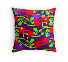 MUSIC & LOVE Abstract 1 Throw Pillow