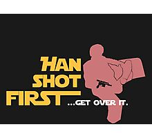 Movies - Han shot first - dark Photographic Print