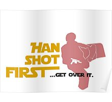 Movies - Han shot first - light Poster