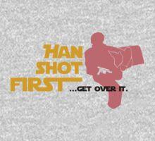 Movies - Han shot first - light Baby Tee