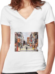 Early Morning Ride Women's Fitted V-Neck T-Shirt