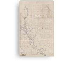 Civil War Maps 2120 Map of the Red River campaign March 10-May 22 1864 Canvas Print