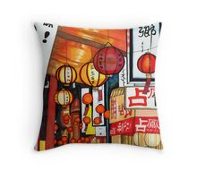 Japanese Street Lanterns Throw Pillow