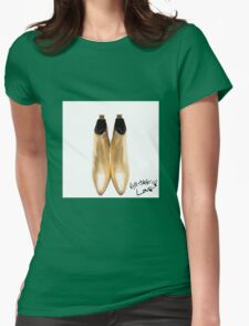 """Harry's Boots & writing- """"All The Love"""" Womens Fitted T-Shirt"""