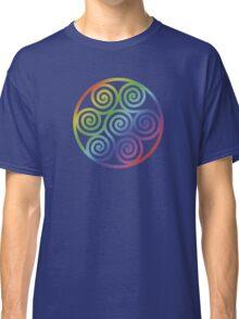 Seven Spirals Symbol Rainbow Classic T-Shirt