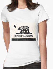 California Republic of Awesome Womens Fitted T-Shirt
