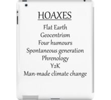 Climate change hoax iPad Case/Skin