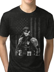 METAL GEAR SOLID SHIRT - SOLID SNAKE Tri-blend T-Shirt