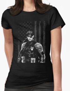 METAL GEAR SOLID SHIRT - SOLID SNAKE Womens Fitted T-Shirt
