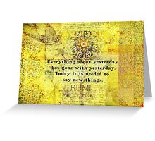 Uplifting, Positive Rumi quote Greeting Card