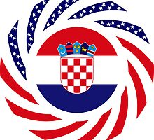 Croatian American Multinational Patriot Flag Series by Carbon-Fibre Media