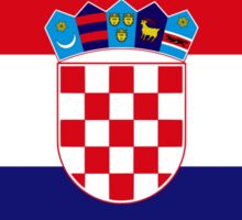 Croatian American Multinational Patriot Flag Series Sticker