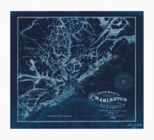 Civil War Maps 0349 E G W Blunt's map of Charleston and vicinity Inverted One Piece - Short Sleeve