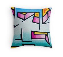 Vibrant Textured Wall Throw Pillow