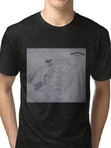 Civil War Maps 0082 Augusta County Virginia Tri-blend T-Shirt