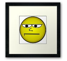Unimpressed and Disapproving Smiley - Funny Geek Meme Nerd Framed Print