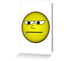 Unimpressed and Disapproving Smiley - Funny Geek Meme Nerd Greeting Card