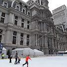 Skating Rink, Philadelphia City Hall, Philadelphia, Pennsylvania by lenspiro
