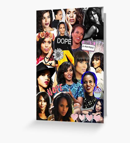 Kerry Washington - Collage  Greeting Card