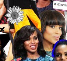 Kerry Washington - Collage  Sticker