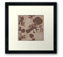 Brony Military Desert Camo Framed Print