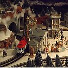 Model Trains, Model Buildings, Reading Terminal Market, Philadelphia, Pennsylvania by lenspiro