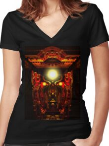Mind Chamber Women's Fitted V-Neck T-Shirt