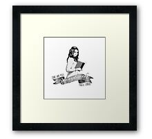 By care of the librarian. Framed Print