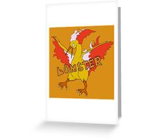 LOMSTER the Moltres Greeting Card