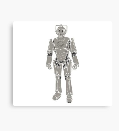 Cyberman/ Doctor Who Canvas Print