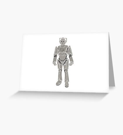 Cyberman/ Doctor Who Greeting Card