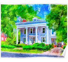 Classically Southern - The Old McKenzie Home Poster