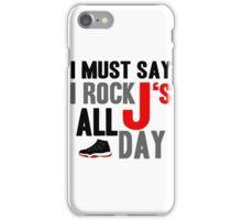Rock JS All Day Jordan Breds iPhone Case/Skin
