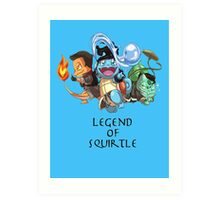 Legend of Squirtle Art Print