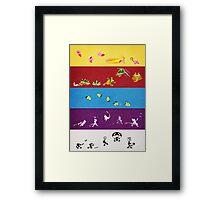 Smash Bros Melee Character Poster FIVE Framed Print