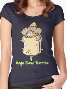 Mega Slow Burrito V1 Women's Fitted Scoop T-Shirt