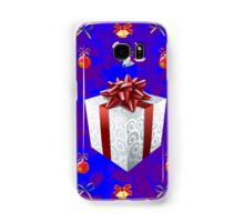 Christmas in Blue - Gift and Bells Christmas Card Samsung Galaxy Case/Skin