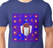 Christmas in Blue - Gift and Bells Christmas Card Unisex T-Shirt