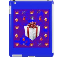 Christmas in Blue - Gift and Bells Christmas Card iPad Case/Skin