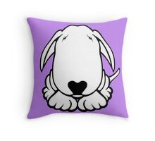 Dobby Ears Bull Terrier  Throw Pillow