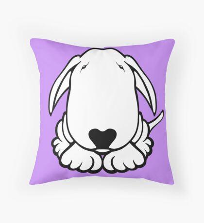 Dobby Ears Bull Terrier  Throw Pillow