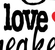 I Love Sneakers Carmines Sticker