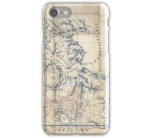 Civil War Maps 2251 Southeastern part of Virginia from York River and west to Black Water River iPhone Case/Skin