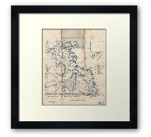 Civil War Maps 2251 Southeastern part of Virginia from York River and west to Black Water River Framed Print