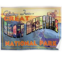Greetings From Great Smoky Mountains National Park Poster