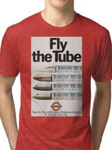 Vintage poster - London Underground Tri-blend T-Shirt